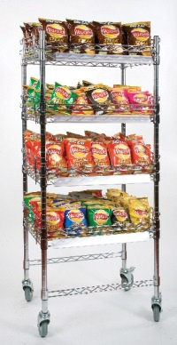 Click for a bigger picture. 4 Tier Crisp Display Stand 610x457x1400mm