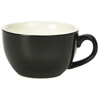 Click for a bigger picture.Royal Genware Bowl Shaped Cup 25cl Black